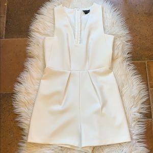 Top shop White shorts  Romper bride luncheon Sz 4